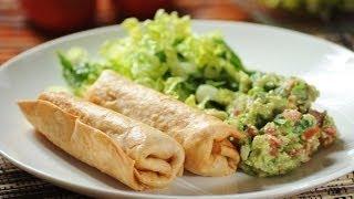 Chimichanga de pollo - Chicken chimichanga - Recetas de cocina mexicana