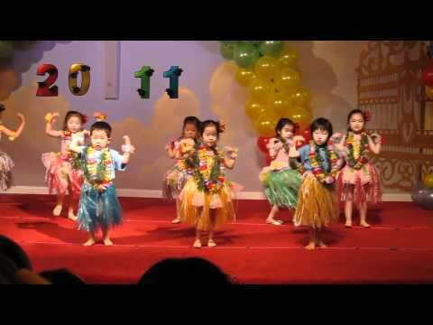 Sarah hula dances at her pre school s graduation ceremony