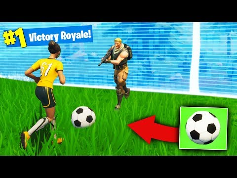 We Won With a SOCCER BALL in Fortnite Battle Royale