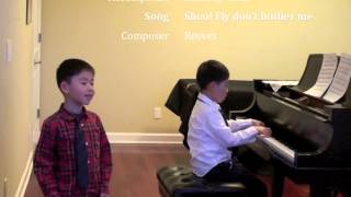 Alfred Chen 5 years old sings Shoo! Fly Don't Bother Me-3/8/2015