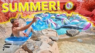 INSANE INFLATABLE POOL PARTY! (SUMMER FUN)