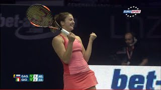 Margarita Gasparyan vs Camila Giorgi and Anna-Lena Friedsam in WTA Linz 2015