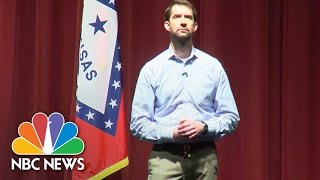 GOP Senator Tom Cotton Confronted At Town Hall About President Trump