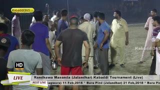 Randhawa Masanda (Jalandhar) Kabaddi Tournament 24 Jun 2017 (Live)