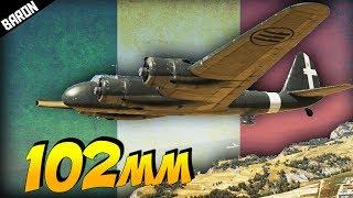 War Thunder's 102mm Cannon Armed Italian Plane (War Thunder 1.69 P108a Gameplay)
