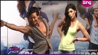 Heropanti promotions - Tiger Shroff & Kirti impress with their dance moves - Bollywood Life