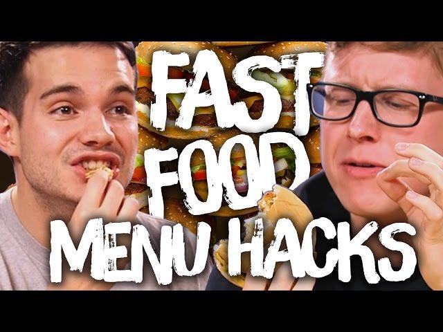 9 Secret Fast Food Menu Hacks w/ TYLER OAKLEY & KOREY KUHL (Cheat Day)