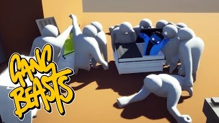 Gang Beasts - Hiding in the Dumpster [Developer Mode]