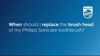 When to replace the brush head of a Philips Sonicare toothbrush