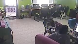 snake at computer shop