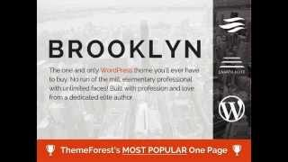 Download Free Brooklyn - Creative One Page Multi-Purpose Theme