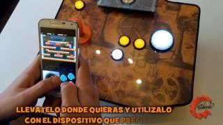 Fabricación y diseño de mandos arcade bluetooth portatiles para Android y Windows.