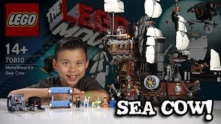 METALBEARD'S SEA COW - LEGO MOVIE Set 70810 - Time-lapse Build, Stop Motion, Unboxing & Review!