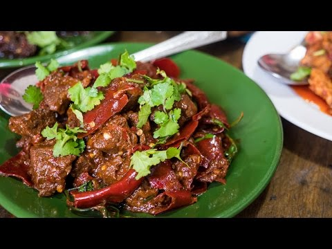 Sikkimese Food in Thimphu Bhutan Incredible Beef and Fireball Chilies Day 5
