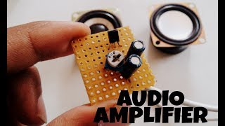 Audio amplifier | small cheap and powerful amplifier circuit with volume control | using transistor