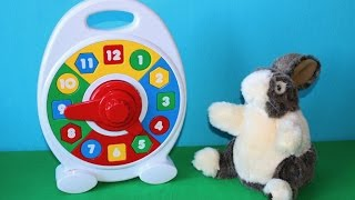 Learn numbers 1-12. Fuzzy the bunny and a clock. Educational puppet show for babies and toddlers