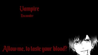 ASMR - VAMPIRE roleplay *Bite* | Blood drinking, soft speaking, mouth sounds, carrying you home