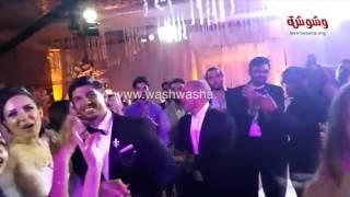وشوشة | رقص شعبي للمطربة ساندي وزوجها في حفل زفافهم |Washwasha