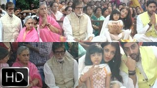 UNCUT : Big B & Family Visit Ramakrishna Mission Durga Pooja Pandal For Blessings