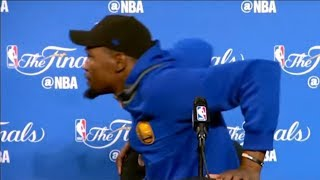 Kevin Durant RUNS Off Stage After Being Scared by Air Conditioner During Press Conference