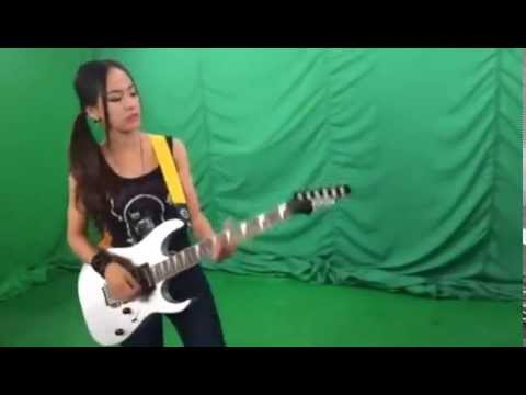 Khmer movie star and top Cambodian model plays guitar | Cambodian famous star