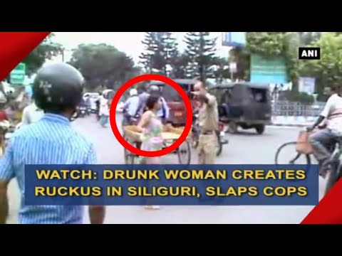 Xxx Mp4 Drunk Woman Creates Ruckus In Siliguri Slaps Cops ANI News 3gp Sex