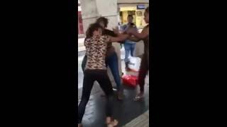 Shameful Benin Girls of Nigeria fighting almost NAKED in Europe