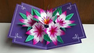 Making A 3d Flower Pop UP Card - Easy And Simple Steps |