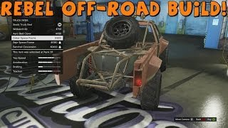 Grand Theft Auto 5   Rebel (Toyota Hilux) Off-Road Build and Test Drive
