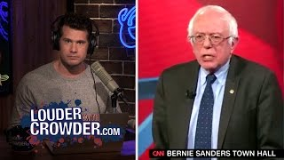 Bernie Sanders Confronted On Blatant Anti-Business Policies   Louder With Crowder