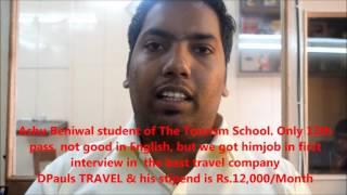Ashu Beniwal Tourism School feedback testimonial salary 12000 rs