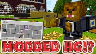 MINECRAFT OVERPOWERED WEAPONS MODDED HUNGER GAMES - MINECRAFT MOD CHALLENGE #1