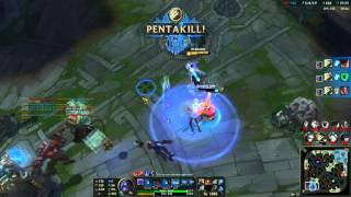 Master Yi Pentakill 1 vs 5 [League of Legends Moments]