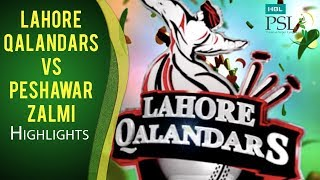 Match 15: Lahore Qalandars vs Peshawar Zalmi - Highlights