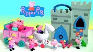 Coleção Princesinha Peppa Pig Família Real na Carruagem Peppa Pig com o Castelo do Pig George ToysBr