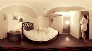 VR 3D VIDEOS 360 || blonde almost nude in bedroom || google cardboard || 360 video