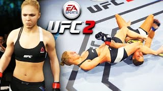 Ronda Rousey Is A Monster! Submission Switching! - EA Sports UFC 2 Online Gameplay