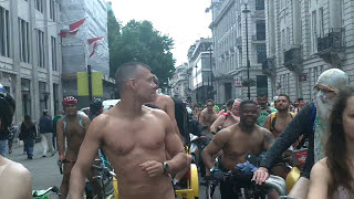 London 2015 Naked Bike Ride (Warning Contains Full Frontal Nudity)