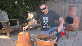 DIY Flower Pot Grill   Smoker