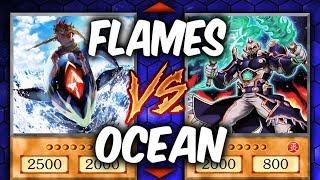 Yugioh FLAMES VS OCEAN!  LEGENDARY FISHERMEN vs FIRE KINGS  (YU-GI-OH! Themed Decks)