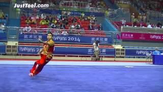 Nanjing 2014 Youth Wushu Tournament - Wushu (Taolu) - Men's Qiangshu (Spear) - 1st Place