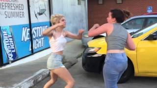 FIGHT!!!! 2 white girls in parking lot