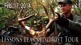 Lessons Learned, Hoyt Tour Feb. 17, 2014