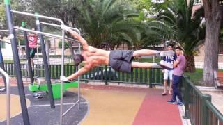 Human flag jump -Street Workout & Calisthenics