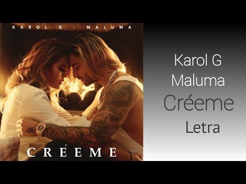 Karol G Maluma Créeme Letra