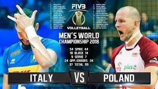 Italy vs. Poland | Highlights | Final 6 Mens World Championship 2018