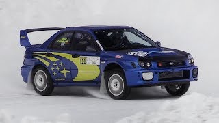 400+ hp Subaru Impreza WRX STi Racing on Snow - Turbo EJ20 Sound