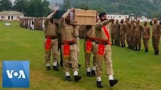 Pakistan Army Send Off Soldiers Killed in Kashmir Cross-Border Fire
