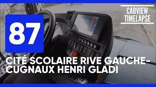 Ligne 87 (Cité Scolaire Rive Gauche-Cugnaux Henri Gladi) Timelapse Bus ▶