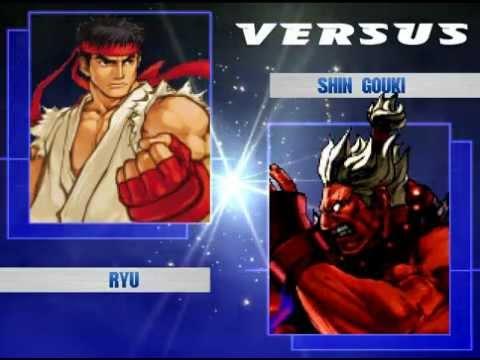 MUGEN BATTLE Ryu and Finn vs Shin Gouki and Spongebob